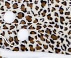 Apartmento 130x180cm Hooded Snuggle Blanket - Leopard 3