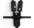 Get Foiled by Outlook Baby 3 Piece Harness Cover Set - Charcoal/Rose Gold Spots 1
