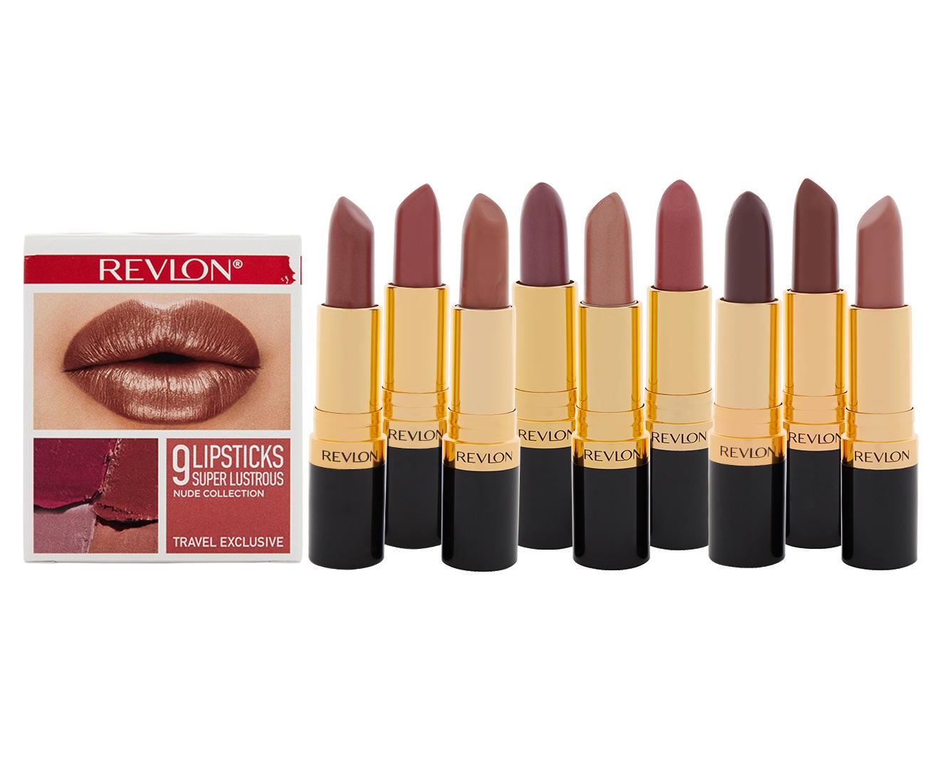 Revlon Super 9 Piece Lustrous Lipsticks Cube Travel