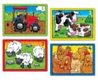 Orchard Toys Farm 4 In A Box 4,6,8 and 12-Piece Jigsaw Puzzles 3