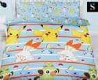 Pokemon Jump Double Bed Quilt Cover Set - Blue/Yellow 1