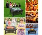 Outdoor 32 Inch Outdoor BBQ Grill Fire Pit Patio Garden Camping Heater 5