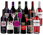 Simply Sweet Red Wine Mix Pack Featuring Brown Brothers Cienna - 12 Bottles 1