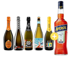 Prosecco + Aperol 700ml Ft. Brown Brothers Prosecco 5x750ml Spritz Pack - 6 Bottles 1