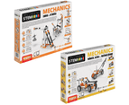 STEM Mechanics Multipack - Cams & Cranks And Wheels, Axles & Inclined Planes STEM Construction Set 1