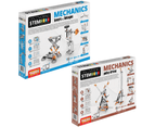 STEM Mechanics Multipack - Levers & Linkages And Pulley Drives STEM Construction Set 1