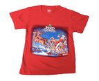 Kids Christmas T-Shirt Children's Santa Merry Xmas Party - Red 1