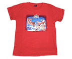 Adult CHRISTMAS T-Shirt Merry Xmas Tee Top Santa Red Top Unisex - Red 1