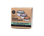 Ever Eco Round Nesting Eco Friendly Stainless Steel Containers Pastel (Set of 3) 1