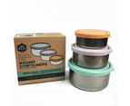 Ever Eco Round Nesting Eco Friendly Stainless Steel Containers Pastel (Set of 3) 4