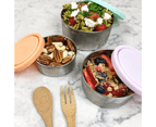 Ever Eco Round Nesting Eco Friendly Stainless Steel Containers Pastel (Set of 3) 5