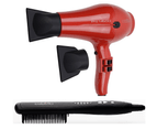 Cabello Pro 4600 Hair Dryer (Red) + Straightening Comb 1