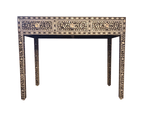 Zohi Interiors Mother Of Pearl Inlay Console Table in Grey 1