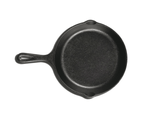 22cm Cast Iron Frying Pan Skillet Handle Oven Safe Grill - Round 2