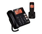 VTech 16650 DECT6.0 Corded-Cordless Phone Combo Handsfree Speakerphone Black 1