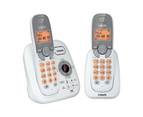 VTech 17250 DECT Twin Handset Cordless Phone Answer Machine Handsfree White 1