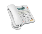 VTech T1300 Corded Home Phone White Hearing Aid Compatible Call Number Display 1