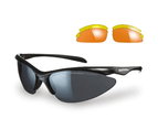 Sunwise Thirst Black Sunglasses for Smaller Faces with 3 Interchangeable Lenses 1