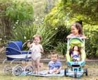 Valco Baby Just Like Mum Mini Marathon Doll Pram - Lime/Aqua 3