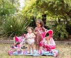 Valco Baby Just Like Mum Mini Marathon Doll Toy Pram - Pink 3