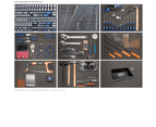 Sp Tools Kit 7 Drawer Tool Box 406 Piece Metric/Sae Sp50171 Black/ Blue Tool Set 2