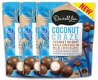 3 x Darrell Lea Coconut Craze Chocolate Bites 160g 1