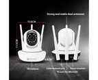 1080P WiFi Wireless PTZ IP Camera for Home Security Surveillance System w/ Motion Detection Remote Access 128GB 2 cameras 2