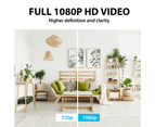 1080P WiFi Wireless PTZ IP Camera for Home Security Surveillance System w/ Motion Detection Remote Access 128GB 2 cameras 3