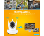 1080P WiFi Wireless PTZ IP Camera for Home Security Surveillance System w/ Motion Detection Remote Access 128GB 2 cameras 5