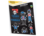 Newcastle Knights NRL My Footy Family Sticker Sheet * 6 Images Per Packet 1