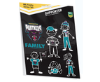 Penrith Panthers NRL My Footy Family Sticker Sheet * 6 Images Per Packet 1