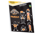 Wests Tigers NRL My Footy Family Sticker Sheet * 6 Images Per Packet 1