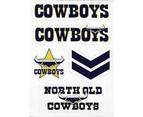 North Queensland Cowboys NRL Wordmark Logo Decal Stickers 1