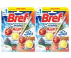 2 x Bref Power Active Toilet Cages Rio Carnival 50g 1