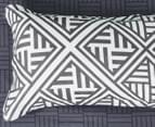 CleverPolly Ashley King Bed Quilt Cover Set - Charcoal/White 4