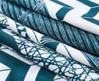 CleverPolly Jasper King Bed Quilt Cover Set - Teal 3