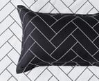 CleverPolly Glen Super King Bed Quilt Cover Set - Black/White 5