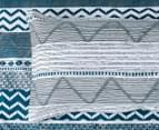 CleverPolly Jasper King Bed Quilt Cover Set - Teal 6