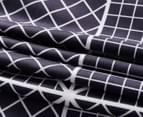 CleverPolly Declan Queen Bed Quilt Cover Set - Navy/White 3