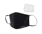 RENW Reusable Water-repellent Face Mask with Two 5-layer Filters - Black 1