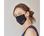 RENW Reusable Water-repellent Do the right thing Face Mask with Two 5-layer Filters - Black 3