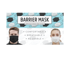 TIGERPLAST Fabric Face Mask Washable Reusable Mouth Cover - Black 4