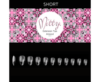 Mitty - Gel-Me Almond Full Coverage Nail Tips 500pcs  - Short 2
