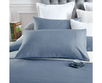 100% Cotton 650TC Sateen Silver Blue Quilt Doona Cover Set 2