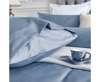 100% Cotton 650TC Sateen Silver Blue Quilt Doona Cover Set 3