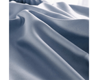 100% Cotton 650TC Sateen Silver Blue Quilt Doona Cover Set 4