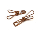 Rose Gold Stainless Steel Infinity Clothes Pegs Large Size - 60 Pack 1