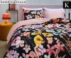 Bedding House Dried Flowers King Bed Quilt Cover Set - Multi 1