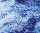 Dreamaker Velvet Digital Printing Pinsonic Quilted Quilt Cover Set - Winter Forest 3