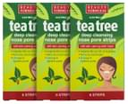 3 x Beauty Formulas Tree Deep Cleansing Nose Pore Strips 6pk 1